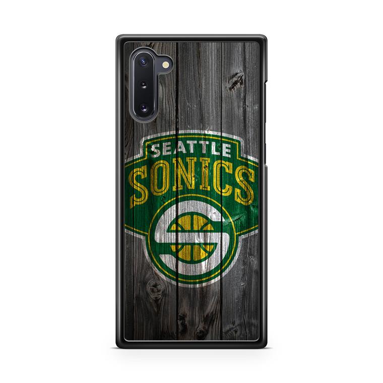 Seattle Sonics Wood Samsung Galaxy Note 10 Case