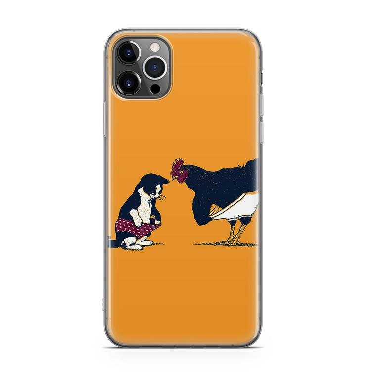 Cat Chicken Yellow Underwear Cute iPhone 12 Pro Case