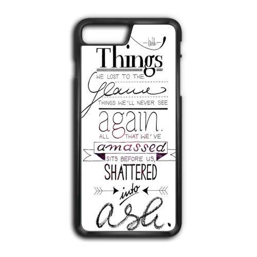 Bastille Poems Lyrics Cover Iphone 8 Plus Case