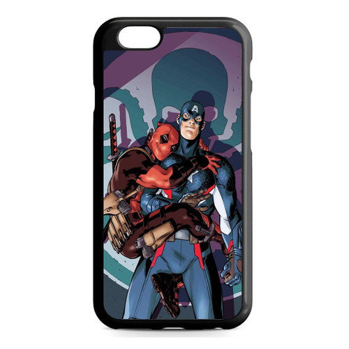 online store 673ff c2bdb Deadpool and Captain America iPhone 6/6S Case