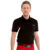 Funktion Golf Mens Short Sleeve Links Golf Shirt Black /Red /White UA