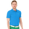 Funktion Golf Mens Short Sleeve Golf Shirt Sky Blue Plain