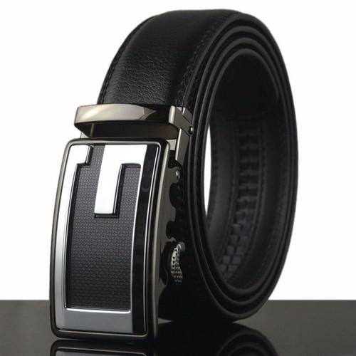 FUNKTION GOLF Mens Black Square G Belt Automatic Adjustable 30 -38