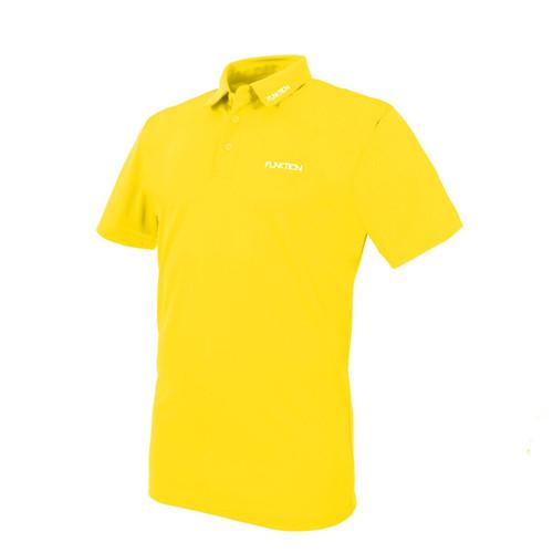 Funktion Golf Mens Short Sleeve Golf Shirt Yellow Plain