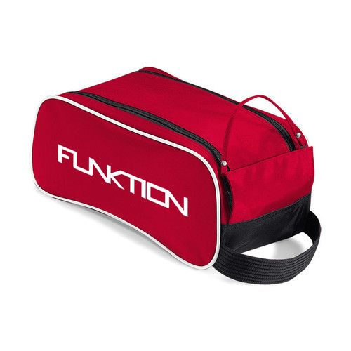 Funktion Red/Black/White Golf Shoe Bag With Large Zipped Compartment