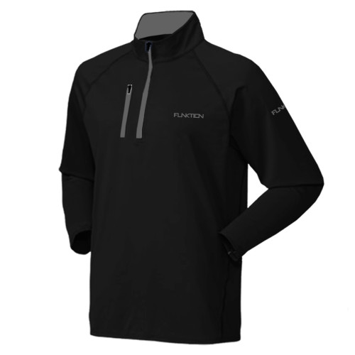FUNKTION GOLF DELTA Thermal Performance Pullover Sweater - Black / Grey
