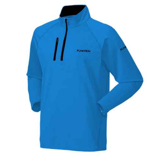 FUNKTION GOLF DELTA Thermal Performance Pullover Sweater - Sky Blue / Black