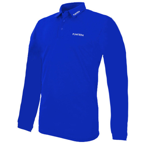 Funktion Golf Mens Long Sleeve SMALL  Golf Shirt Electric Blue