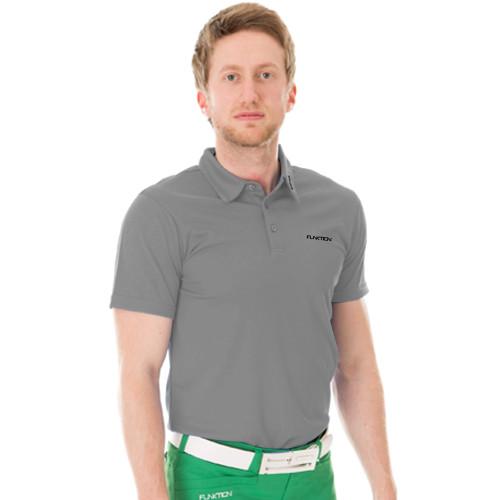 Funktion Golf Mens Short Sleeve Golf Shirt Grey Plain