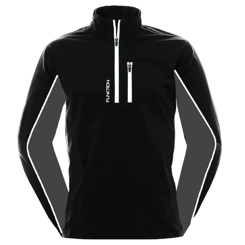 FUNKTION GOLF Thermal Performance Pullover Sweater - Black /Grey / White