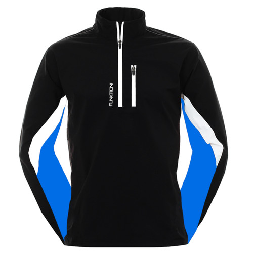 FUNKTION GOLF Thermal Performance Pullover Sweater - Black/ Blue / White