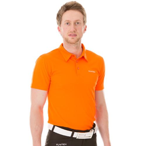 Funktion Golf Mens Short Sleeve Golf Shirt Orange Plain