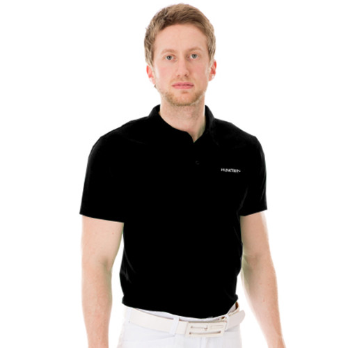 Funktion Golf Mens Short Sleeve Golf Shirt Black Plain
