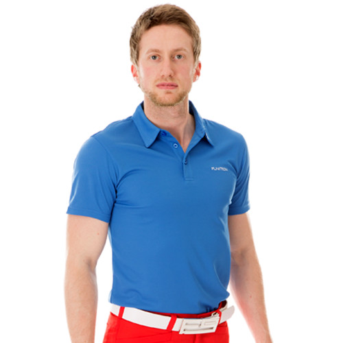 Funktion Golf Mens Short Sleeve Golf Shirt Powder Blue Plain