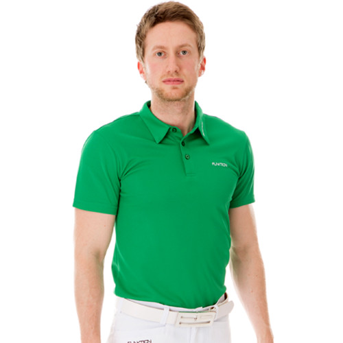Funktion Golf Mens Short Sleeve Golf Shirt Green Plain