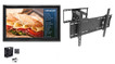 "The Display Shield 44-50"" Anti-Glare Outdoor Enclosure, Fan, Tilt & Swivel Mount"