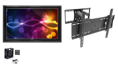"""The Display Shield 44-50"""" Outdoor Enclosure with Fan and Tilt & Swivel Mount"""