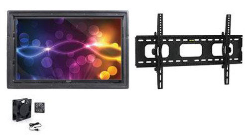 """The Display Shield 36-43"""" Outdoor Display Enclosure with Fan and Tilt Mount"""