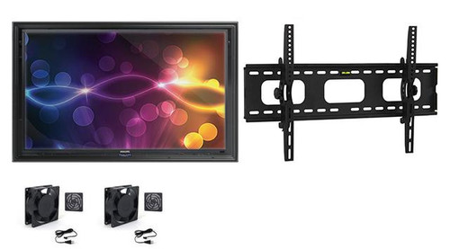 "The Display Shield 60-65"" Outdoor Display Enclosure with Fans and Tilt Mount"