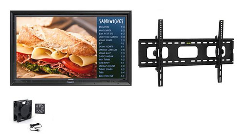 """The Display Shield 52-55"""" Anti-Glare with Fan and Tilt Mount"""