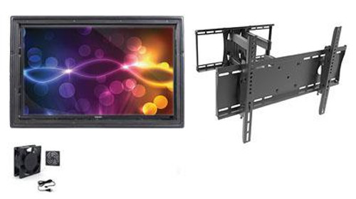 """The Display Shield 36-43"""" Outdoor Display Enclosure, Fan, Full Motion Mount"""