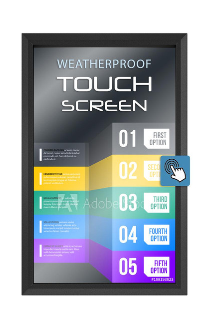 """IR Touch Screen Frame for 42""""-65"""" The TV Shield PRO Portrait"""