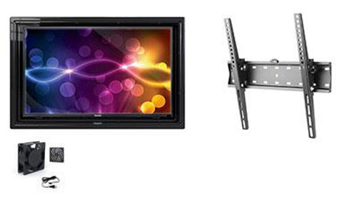 """The Display Shield 30-32"""" Outdoor Display Enclosure with Fan and Tilt Mount"""
