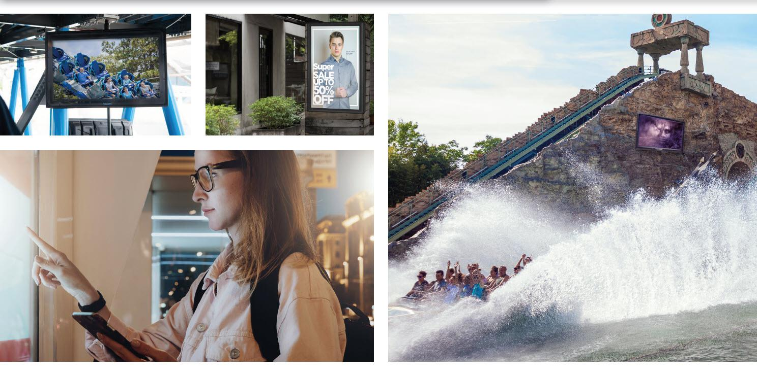 Best Digital Signage TV Options for Theme Parks