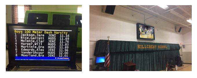 Electronic scoreboard for track, gym, and more - The TV Shield PRO