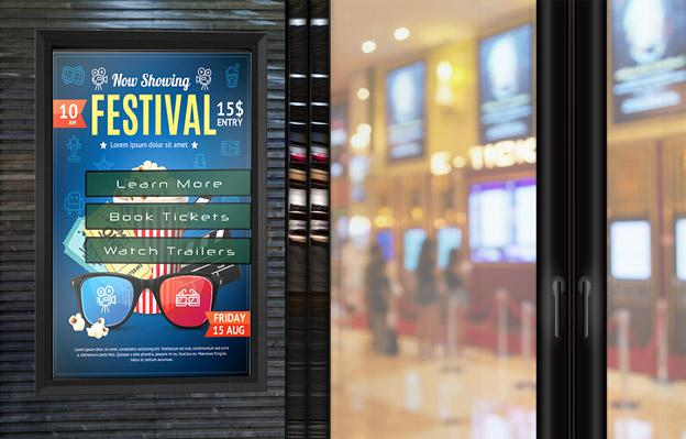 theater digital signage protection