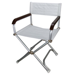 Relaxn Folding Deck Chair Alloy - White