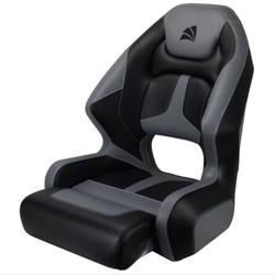 Relaxn Mako Premium Boat Seat - Black Carbon / Grey