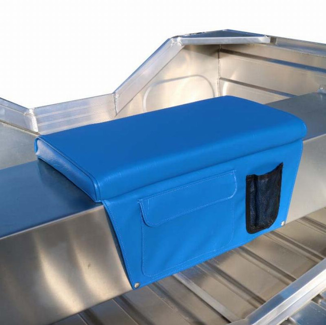 Boat Bench Cushion With Side Pockets - Blue
