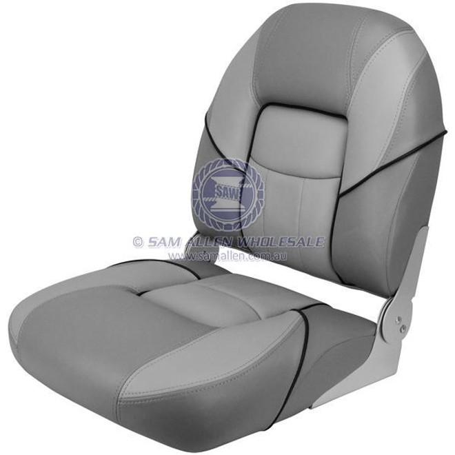 "Relaxn ""Bay"" Series Fold Down Seat - Grey / Light Grey"