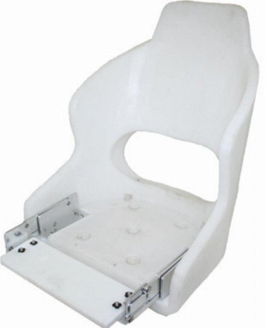 """Compact Flip-Up Helmsman Seat - """"Admiral"""", Shell Only"""