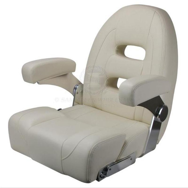Relaxn Cruiser Series Boat Seat - Ivory White