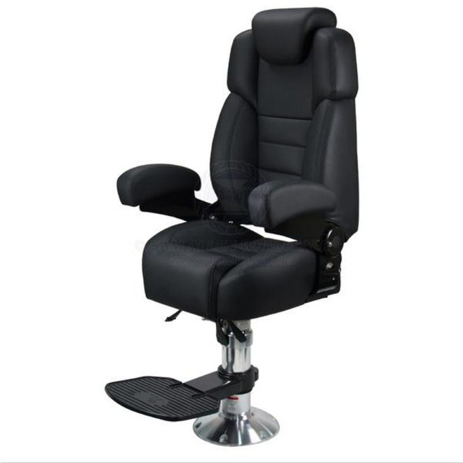 Relaxn Voyager Pilot Seat with Pedestal & Footrest - Black