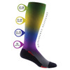 VOXX THERAPY Medical Compression Knee-High Sock Black