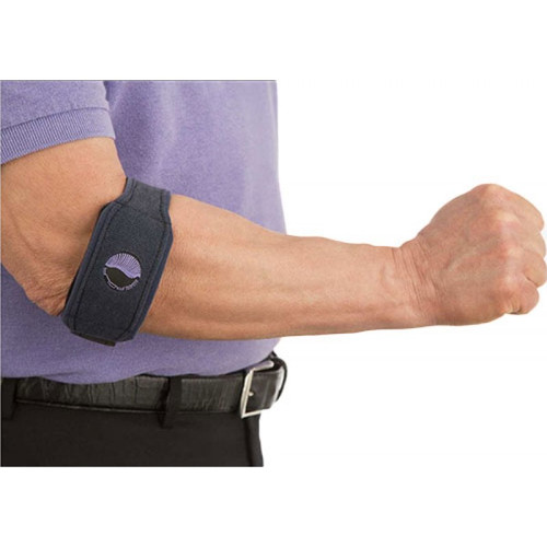 Serola Gel Arc Elbow Brace in use