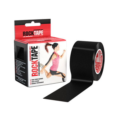 "RockTape 2""x16.4 Feet Roll Black"