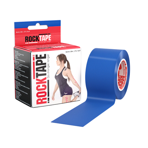 "2"" RockTape Navy Blue Product with package"