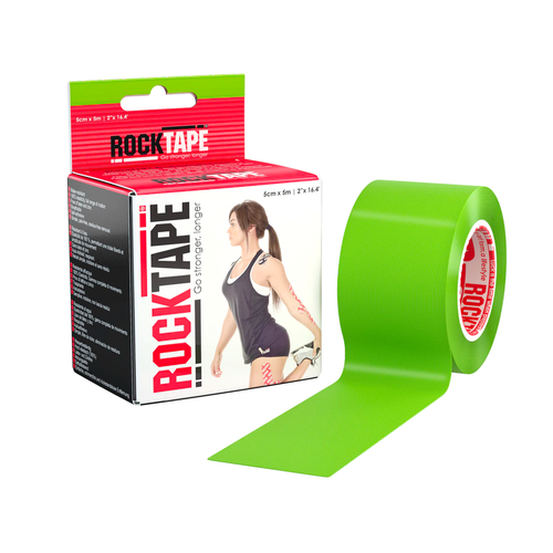 "2"" RockTape Lime Package With Product"