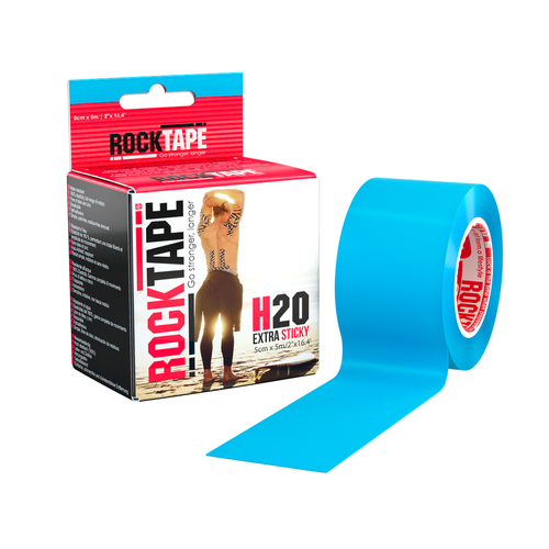 "2"" RockTape H2O Blue Product With Package"