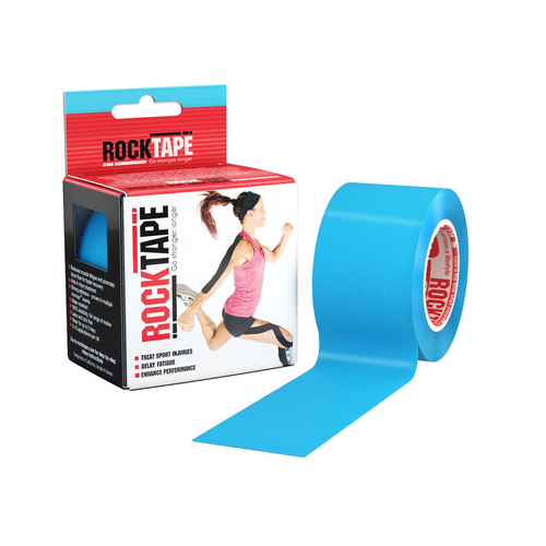 """RockTape 2"""" Blue Product With Package"""