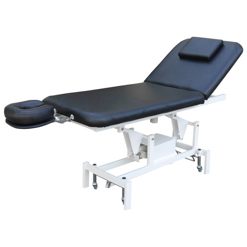 Essentials 2 part therapy table with motorized back lift