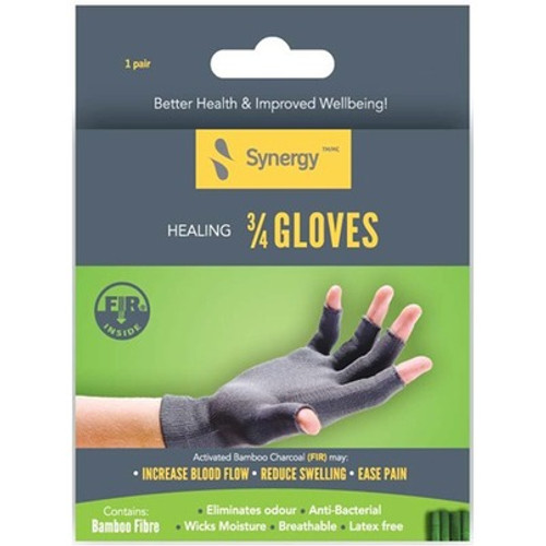 Synergy FIR 3/4 Healing Glove Packaging