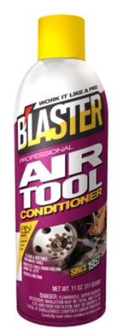 Air tool conditioner.  Restores original working power to air tools