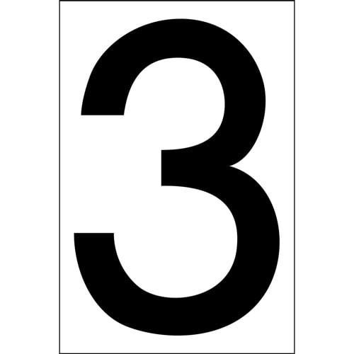 """# 3 BLACK DECAL 4"""" HI WHITE BACK"""