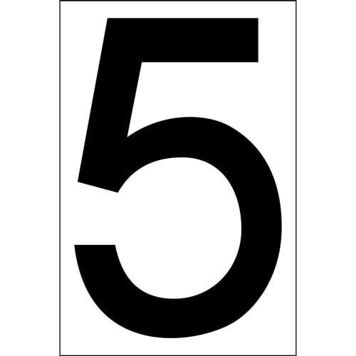 """# 5 BLACK DECAL 4"""" HI WHITE BACK"""