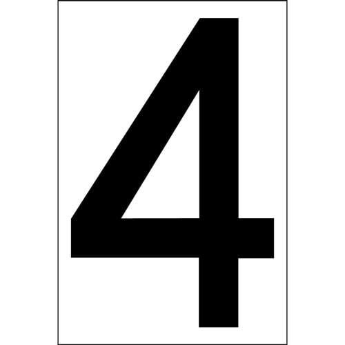 """# 4 BLACK DECAL 4"""" HI WHITE BACK"""